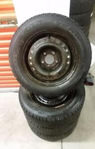 (H140) Pneus Hiver - Winter Tires 195-65-15 Goodyear