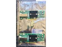 Set Of 2 HP Mellanox Connectx-2 10gb Ethernet High Profile NIC 671798-001 with 2M SFP+ Cable