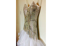 OFFERS! SWAROVSKI CRYSTAL WHITE COMPETITION BALLROOM DRESS!