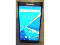 MINT CONDITION: Blackberry Priv unlocked mobile smart phone 32GB black, Android OS smartphone