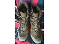Grey DKNY Heeled Boots Size UK 4