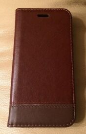 BROWN IPHONE 7 PU LEATHER CASE (BRAND NEW STILL PACKAGED) RRP £9.99