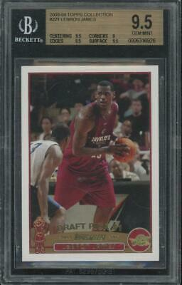 2003 Topps Collection #221 Lebron James RC Rookie Gem Mint BGS 9.5