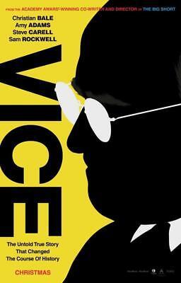 Vice Movie Poster Wall Art Photo 8x10 11x17 16x20 22x28 24x36 27x40 Cheney Bale