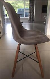 Cream Faux leather dining seats x8
