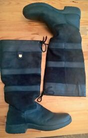 Size 10 - Dublin River Riding, Knee-length Boots in Black - Excellent condition