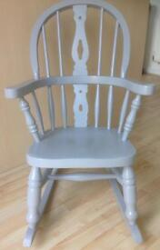 Childs solid oak rocking chair