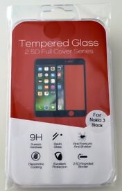 Tempered Glass screen protector for new generation Nokia mobiles 3, 5, 6 or 8