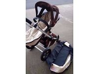 Bugaboo Cameleon in Beige & Brown with Carrycot & Pushchair REDUCED TO CLEAR