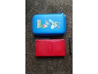 Red Nintendo DS Lite with original charger, case and stylus