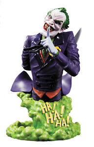 SUPER HEROES VILLAINS JOKER BUST STATUE FIGURE SRP $70 DC COMICS NEW 52 BATMAN