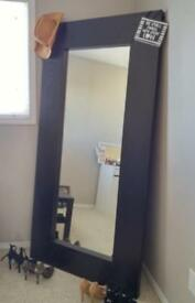 Ikea large full length Mongstad Mirror in Black Brown