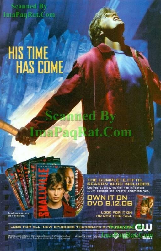 Smallville Fortress of Solitude 5th Season DVD Print Ad
