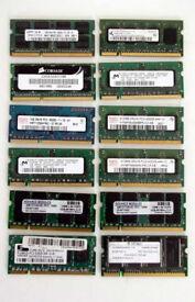 Laptop Memory DDR3 & DDR2 Ram (Bargain, Sodimm, Apple, Mac, PC, Laptop, 204pin, 200pin)