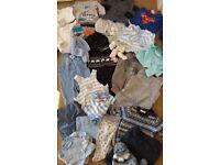 30 item 0-3 Months baby boy clothes bundle