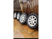 """12"""" minilight alloys with falken tyres to suit classic mini"""