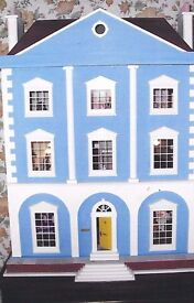 Magnificent Dolls House with electric lights, flickering fireplaces and full furniture