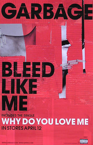 Garbage 2005 Bleed Like Me Original Double Sided Promo Poster