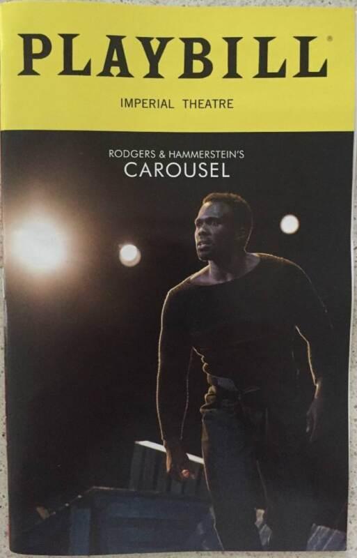 Carousel Playbill Jessie Mueller  Joshua Henry Renee Fleming Lindsay Mendez 2018