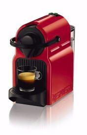 BRAND NEW Nespresso Inissia Coffee Machine, Ruby Red + capsule tasting gift