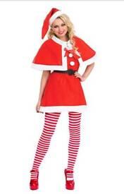 Ladies christmas fancy dress 16/18 cute miss santa clause