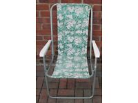Garden/Patio - CHAIR - with arm rests, fold up for storage/transport, ideal beach,fishing,camping