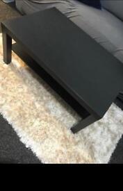 Black rectangle ikea table