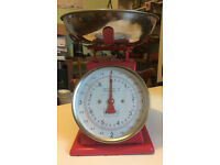 Red kitchen scales retro vintage look