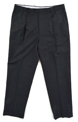 JB BRITCHES Italy Gray Pleated Wool Dress Pants ~ Mens 38x33