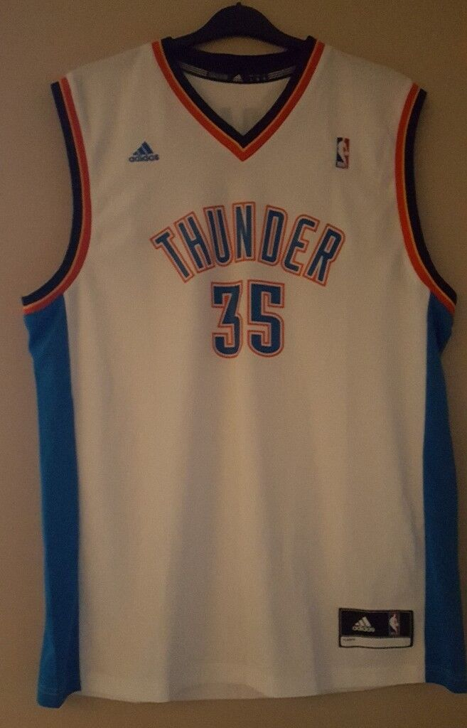 3856ca562 NEW NBA Adidas Kevin Durant Oklahoma City Thunder 35 Basketball Jersey Large