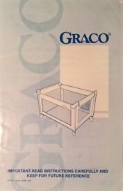 Graco Travel Cot - Navy Blue