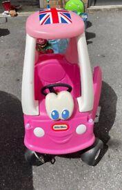 Pink little times car