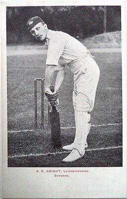 ALBERT KNIGHT ENGLAND TO AUST 1903-04 CRICKET POSTCARD