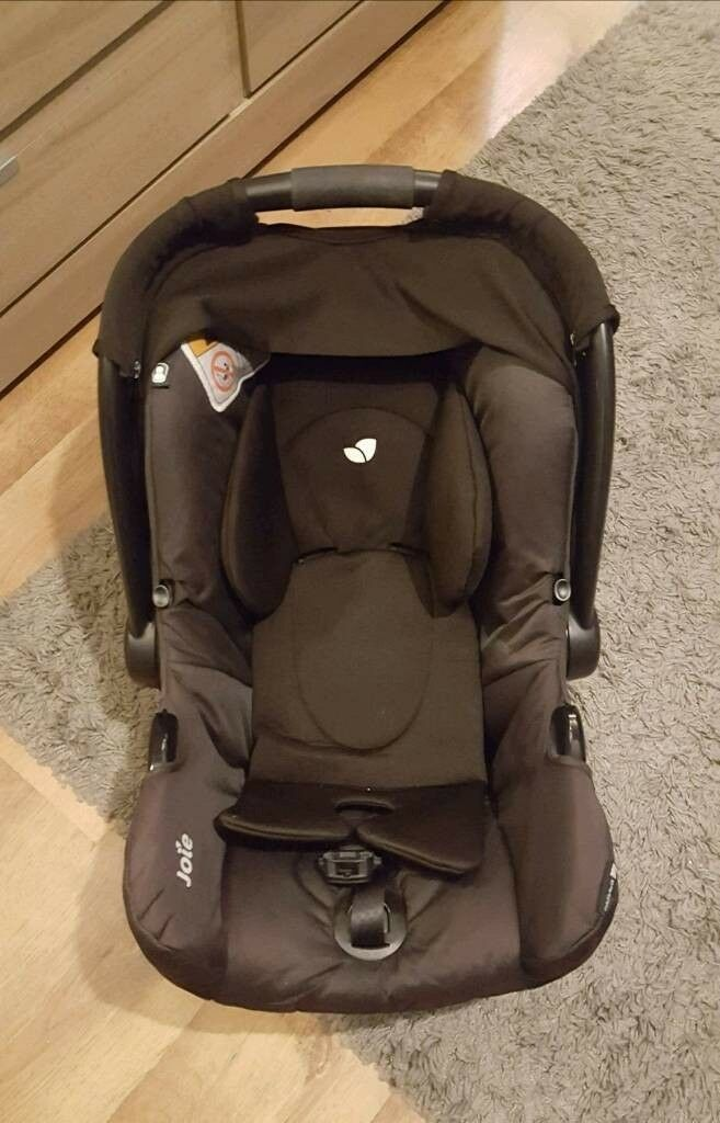 Joie gemm car seat with newborn insert, car seat base, rain cover ...