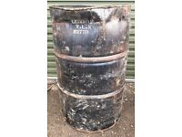 Empty Tar oil Drum excellent Incinerator BBQ DIY Project 4 Available