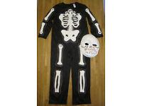 ghastly skeleton costume, size 7-8 years
