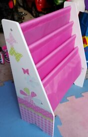 Butterfly bookcase - Pink & White