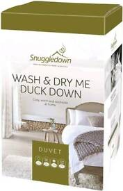 Snuggledown Wash and Dry Me Duck Down Duvet, 13.5 Tog - Super-King
