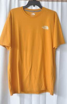 EUC The North Face TNF Men's Red Box T-Shirt-Large-Citrine Yellow-Flaw