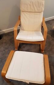 IKEA Poang Rocking-Chair and Footstool