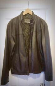 John Lewis genuine leather Jacket mens size M