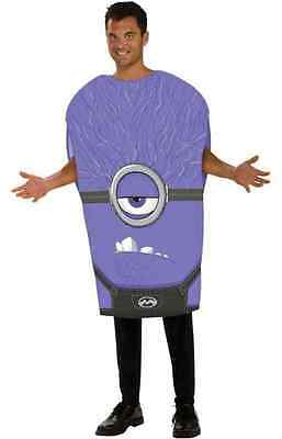 Evil Minion Purple Despicable Me Movie Fancy Dress Up Halloween Adult - Evil Purple Minion Halloween Costume