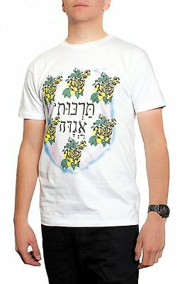 New Mens White Hebrew  Font Boy George T Shirt Culture Club