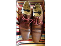 Pair of almost new Paul Smith designer men's shoes size 8 - bargain! Stamford style.