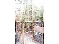 Very ornate vintage bamboo screen