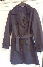 M&S black raincoat - UK size 10