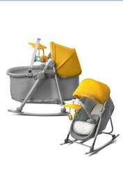 Yellow Baby Bouncing Chair Bouncer Rocker Lying Cradle Seat