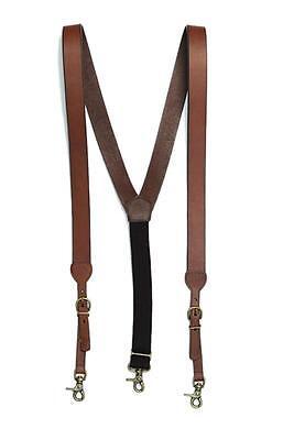 Nocona Western Mens Suspenders Galluse Leather Brown N2712202