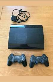 Ps3 Super Slim with 2 Controllers & Games