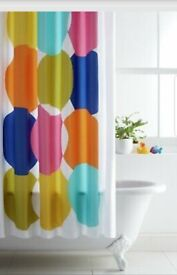 Funky Argos Home Polyester Shower Curtain - Multicoloured Spots